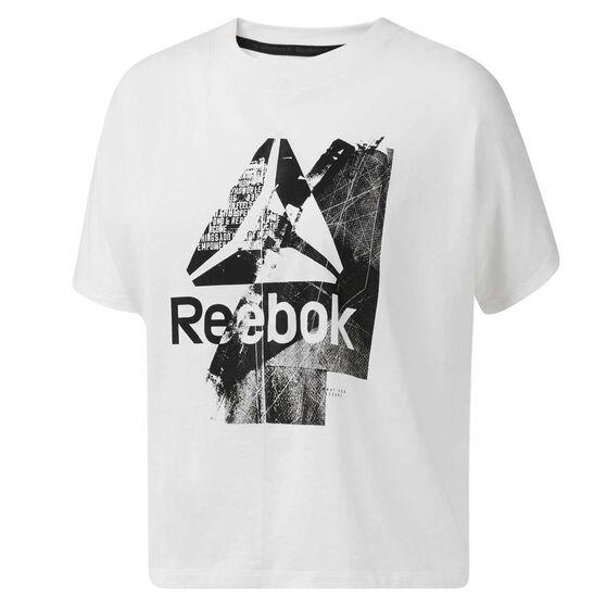 Reebok Womens Training Essentials Tee White L, White, rebel_hi-res