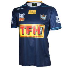 Gold Coast Titans 2018 Mens Training Tee Navy S, Navy, rebel_hi-res