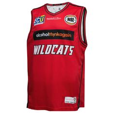 Mitchell and Ness Mens Perth Wildcats 2018 Home Jersey, , rebel_hi-res