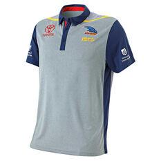 Adelaide Crows 2019 Mens Performance Polo Grey S, Grey, rebel_hi-res