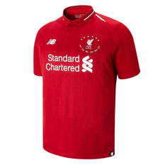 Liverpool FC 2018/19 Mens Euro Champions Jersey Red S, Red, rebel_hi-res