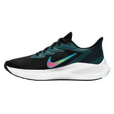 Nike Zoom Winflo 7 Womens Running Shoes Black/Pink US 6, Black/Pink, rebel_hi-res