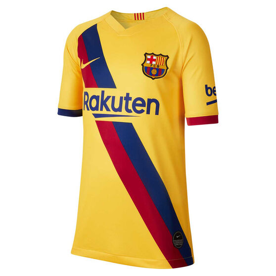 FC Barcelona 2019/20 Kids Away Jersey, Yellow, rebel_hi-res