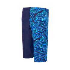 Zoggs Boys Wild Wave Jammer Swim Shorts Blue 6, Blue, rebel_hi-res