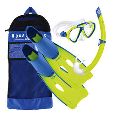 Aqua Lung Sport Junior Panda Snorkel Set Blue S / M, Blue, rebel_hi-res