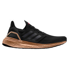 adidas Ultraboost 20 Mens Running Shoes, Black/Bronze, rebel_hi-res