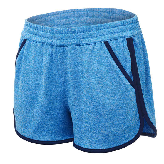 Under Armour Womens Tech Shorts, Blue, rebel_hi-res