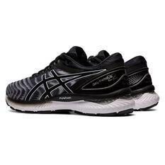 Asics GEL Nimbus 22 2E Mens Running Shoes, Black/White, rebel_hi-res