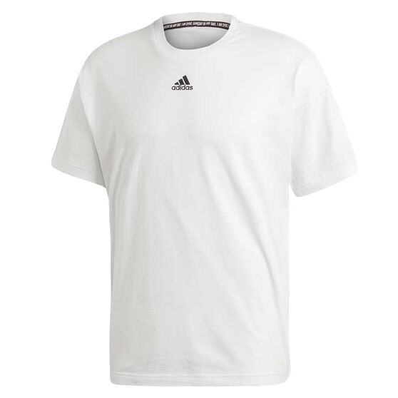 adidas Mens Must Haves 3 Stripes Tee, White, rebel_hi-res