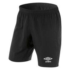Umbro Kids Junior League Knit Shorts Black 6, Black, rebel_hi-res