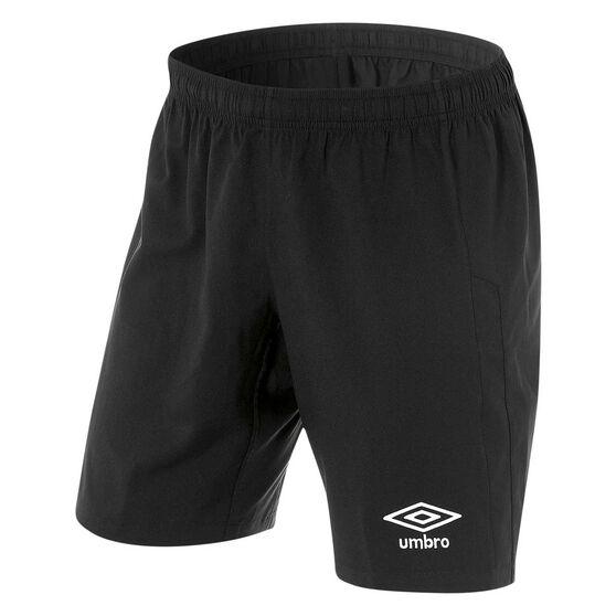 Umbro Kids Junior League Knit Shorts, Black, rebel_hi-res