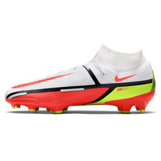 Nike Phantom GT2 Pro Dynamic Fit Football Boots White/Red US Mens 4 / Womens 5.5, White/Red, rebel_hi-res
