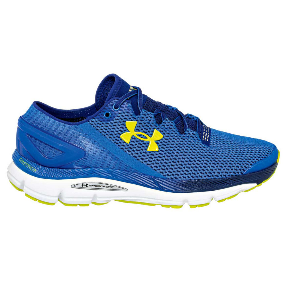 Under Armour Speedform Gemini 2.1 Mens Running Shoes Blue   Yellow US 7 41446492ed9