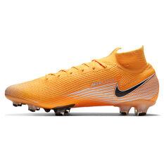 Nike Mercurial Superfly VII Elite Football Boots Orange/White US Mens 7 / Womens 8.5, Orange/White, rebel_hi-res