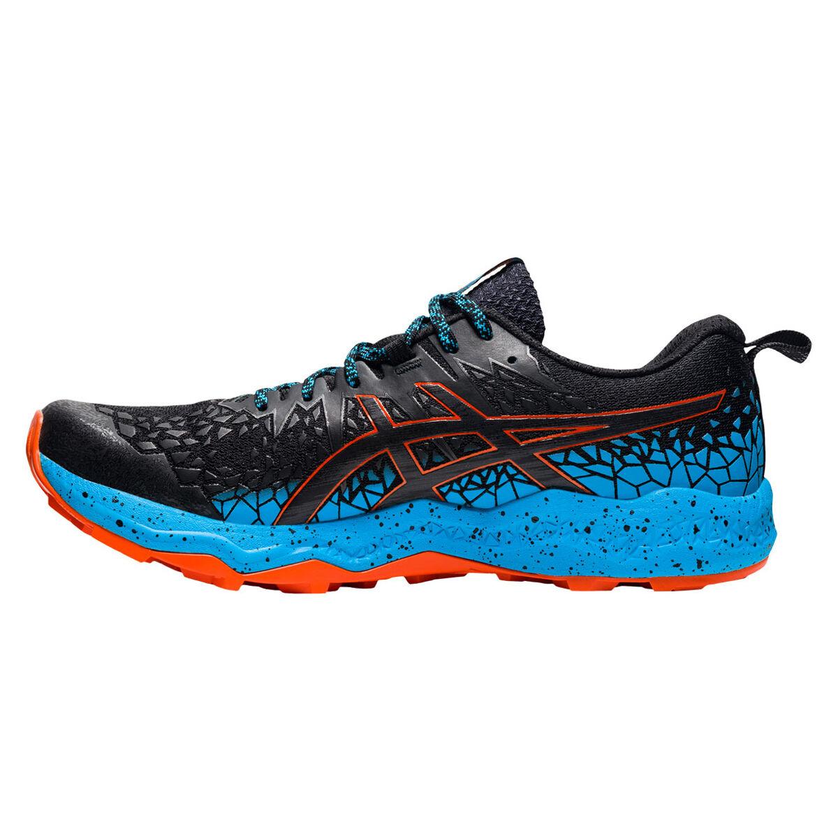 Asics Fuji Trabuco Lyte Mens Trail Running Shoes Black/Aqua US ...