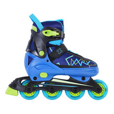 Goldcross GXC245 Light Up Inline Skates Blue US 3-6, Blue, rebel_hi-res