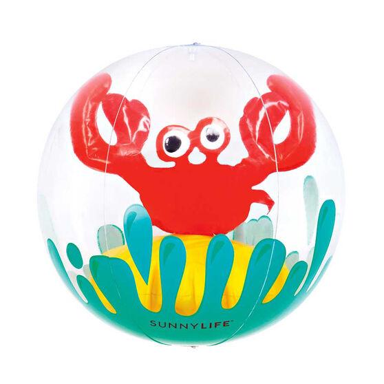 Sunnylife Inflatable 3D Crabby Beach Ball, , rebel_hi-res