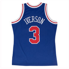 Philadelphia 76ers Allen Iverson 96/98 Mens Alternate Swingman Jersey Blue / Red S, Blue / Red, rebel_hi-res