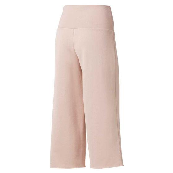 Reebok Womens Studio Wide Leg Pants, Pink, rebel_hi-res