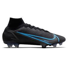Nike Mercurial Superfly 8 Elite Football Boots Black/Grey US Mens 4 / Womens 5.5, Black/Grey, rebel_hi-res