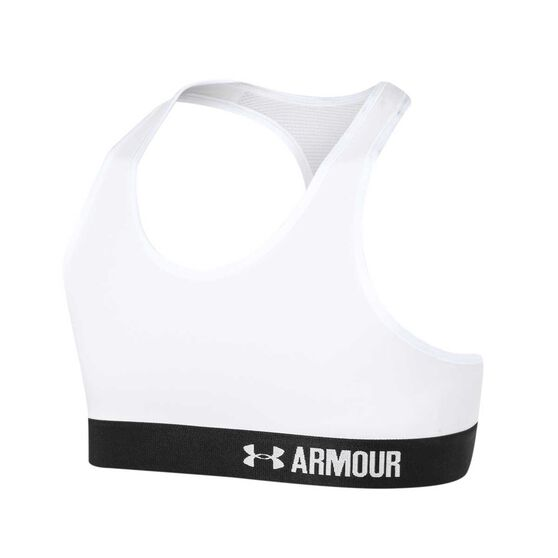 Under Armour Girls Armour Bra, White, rebel_hi-res