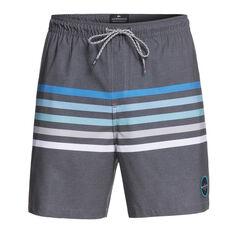 Quiksilver Mens Seasons Volley Board Shorts Grey S, Grey, rebel_hi-res