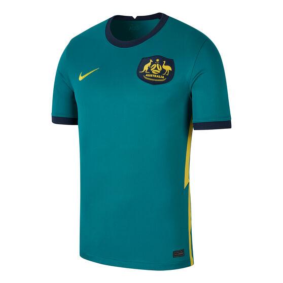 Australia 2020/21 Kids Away Jersey, Green, rebel_hi-res
