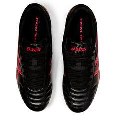 Asics Lethal Tackle Rugby Boots Black/Red US Mens 10 / Womens 11.5, Black/Red, rebel_hi-res