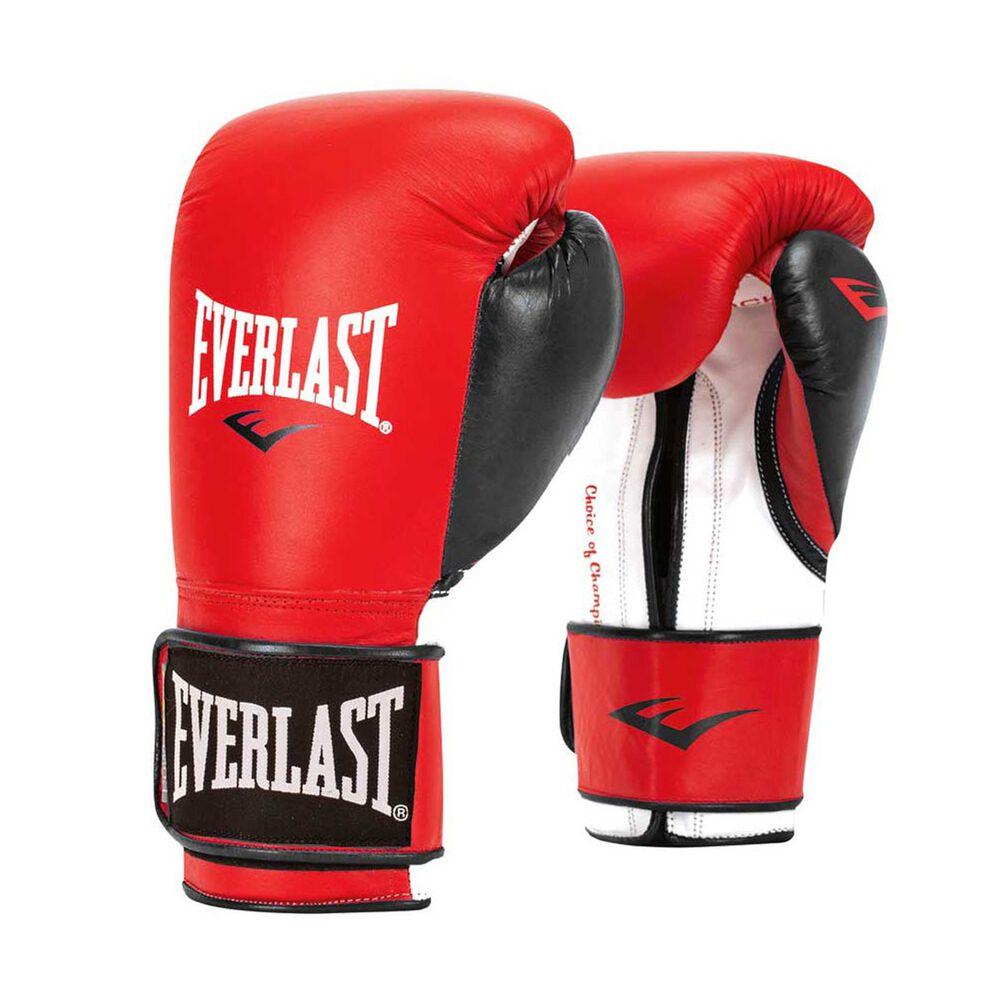 Shiv Naresh Teens Boxing Gloves 12oz: Everlast Powerlock Training Boxing Glove Red / Black 12oz
