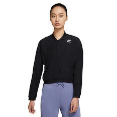 Nike Air Womens Running Jacket Black XS, Black, rebel_hi-res