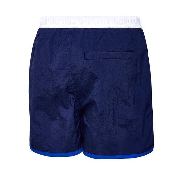 Speedo Boys Wave Board Shorts, Navy / White, rebel_hi-res