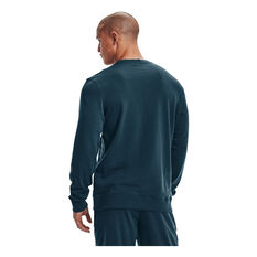 Under Armour Mens Rival Terry Scribble Crew Blue S, Blue, rebel_hi-res