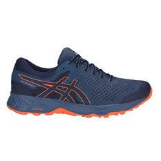 Asics GEL Sonoma 4 Mens Trail Running Shoes Blue / Orange US 7, Blue / Orange, rebel_hi-res