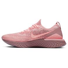 Nike Epic React Flyknit 2 Womens Running Shoes Pink / Black US 6, Pink / Black, rebel_hi-res