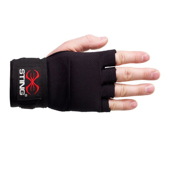 Sting Elastic Quick Wraps, Black, rebel_hi-res