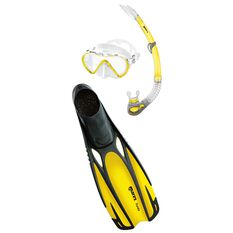 Mares Cobia Fluida Snorkel Set Yellow S, Yellow, rebel_hi-res