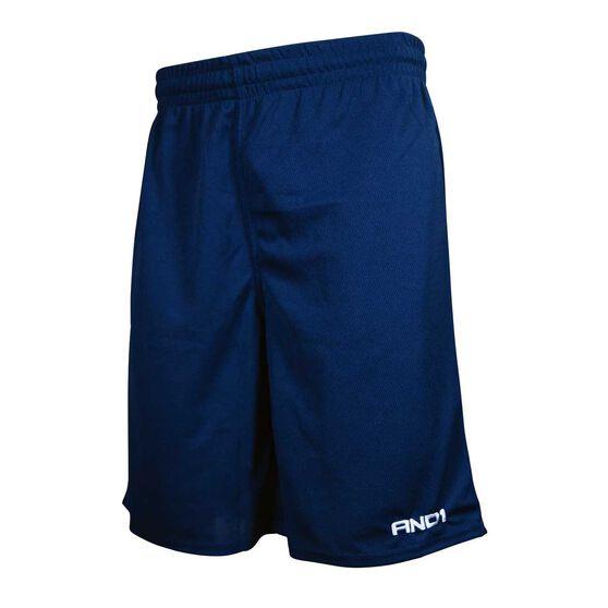 AND1 Mens No Sweat Shorts, Navy, rebel_hi-res