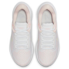 Nike Air Zoom Structure 24 Womens Running Shoes, White/Green, rebel_hi-res