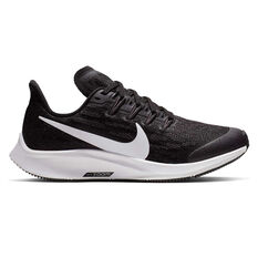 Nike Air Zoom Pegasus 36 Kids Running Shoes Black / White US 1, Black / White, rebel_hi-res