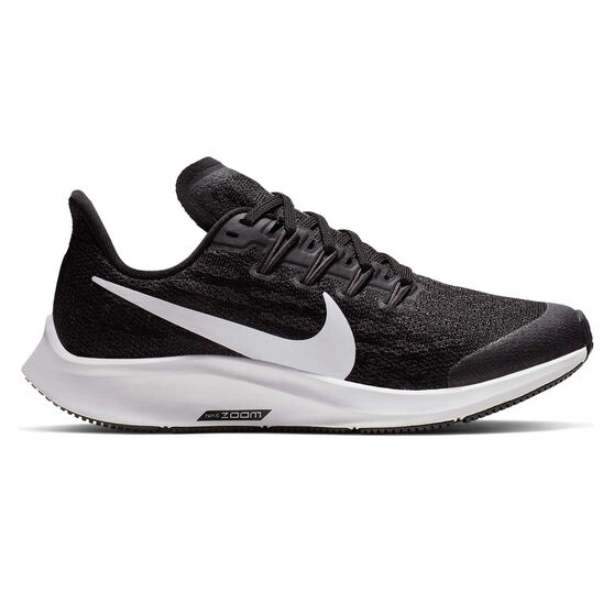 Nike Air Zoom Pegasus 36 Kids Running Shoes, Black / White, rebel_hi-res