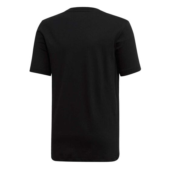 adidas Boys Essential Plain Tee Black / White 16, Black / White, rebel_hi-res
