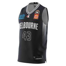 Melbourne United Chris Goulding 20/21 Mens Home Jersey Black XS, Black, rebel_hi-res
