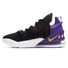 Nike LeBron XVIII Mens Basketball Shoes Black/Gold US 7, Black/Gold, rebel_hi-res