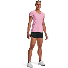 Under Armour Womens UA Tech Twist V-Neck Tee, Pink, rebel_hi-res