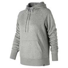 New Balance Essentials Pullover Hoodie Grey XS Adult, Grey, rebel_hi-res