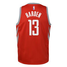 1ecc5482ac9b ... rebel hi Nike Houston Rockets James Harden Icon 2019 Kids Swingman Jersey  Red S