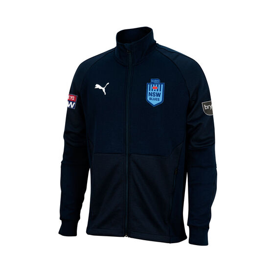 NSW Blues State of Origin 2021 Mens Training Jacket, Blue, rebel_hi-res