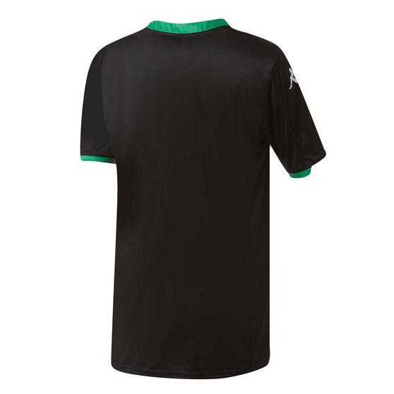 Western United 2019/20 Kids Home Jersey, Black / Green, rebel_hi-res