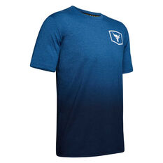Under Armour Mens Project Rock Iron Paradise Tee Blue XS, Blue, rebel_hi-res
