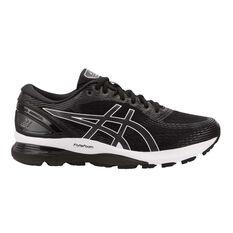 Asics GEL Nimbus 21 2E Mens Running Shoes Black / Grey US 7, Black / Grey, rebel_hi-res